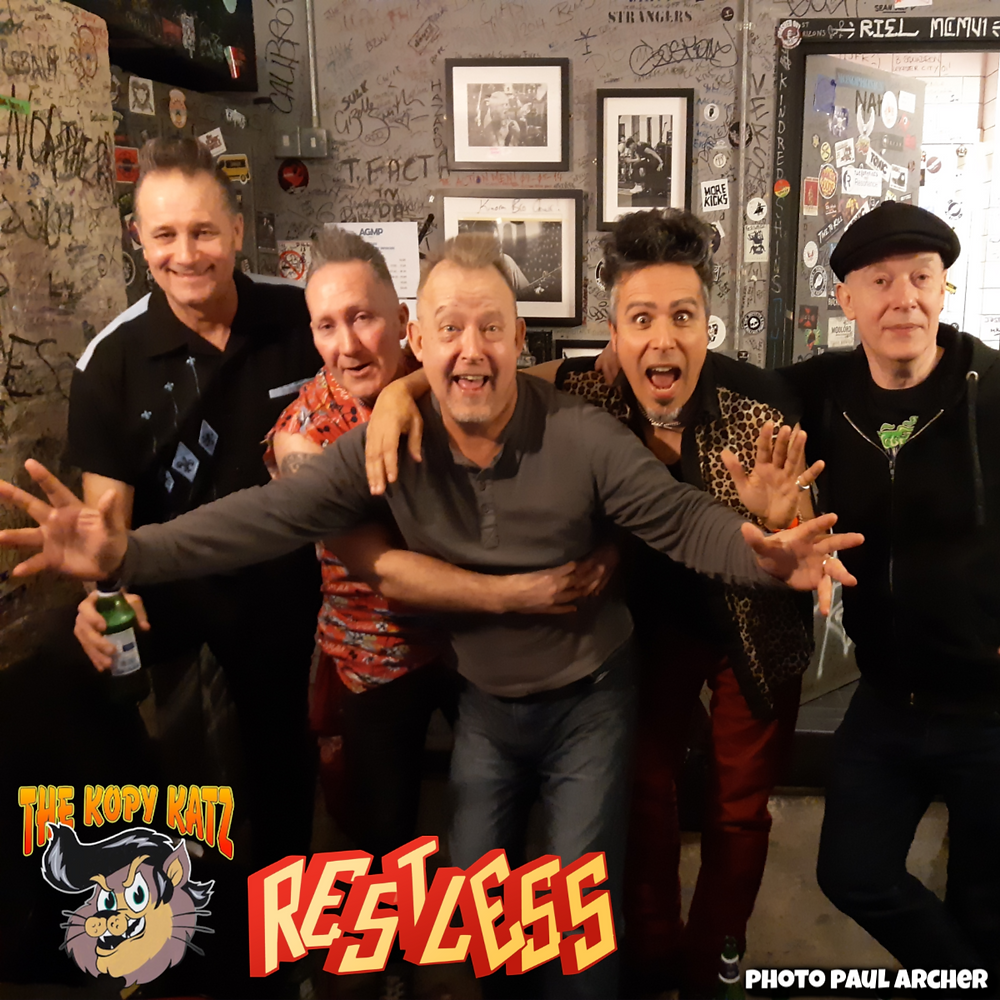 The Kopy Katz with Restless backstage at The !00 Club London 2020