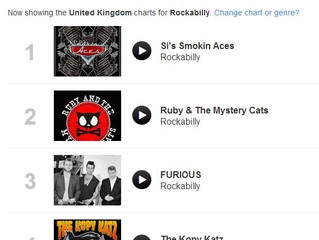 The Kopy Katz are #4 on UK National Rockabilly Charts