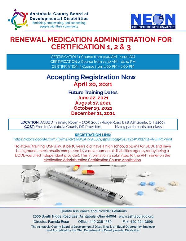 Renewal Med Cert 1, 2&3 April 20 Flyer.j