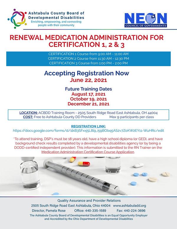 Renewal Med Cert 1, 2&3 June 22 Flyer.jp