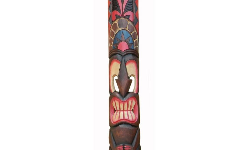 "60"" ALBESIA WOOD TIKI MASK"
