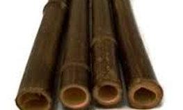 1.25″ x 10′ BAMBOO POLES NATURAL BLACK (10 Poles)