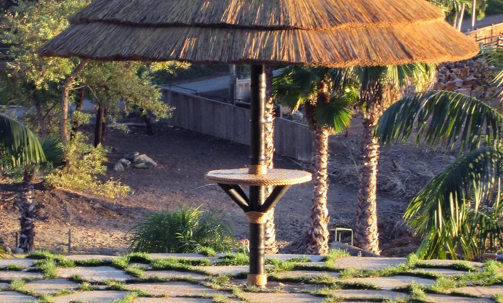 8′-20' AFRICAN REED UMBRELLA-BALINESE STYLE