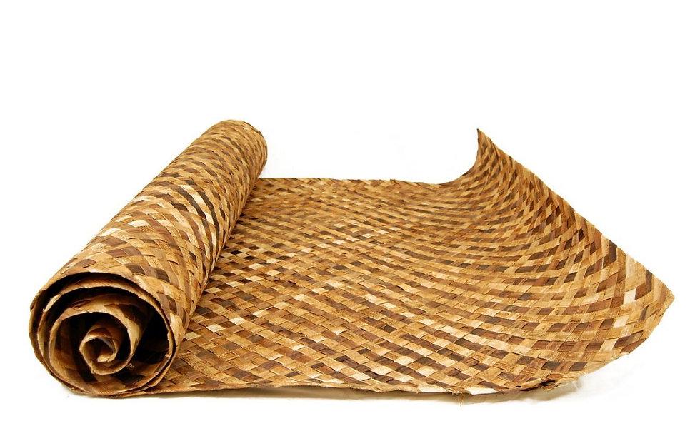 DARK BROWN WOVEN MATTING - (Wide weave)
