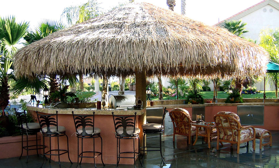 CUSTOM SIZES BAJA THATCH UMBRELLAS