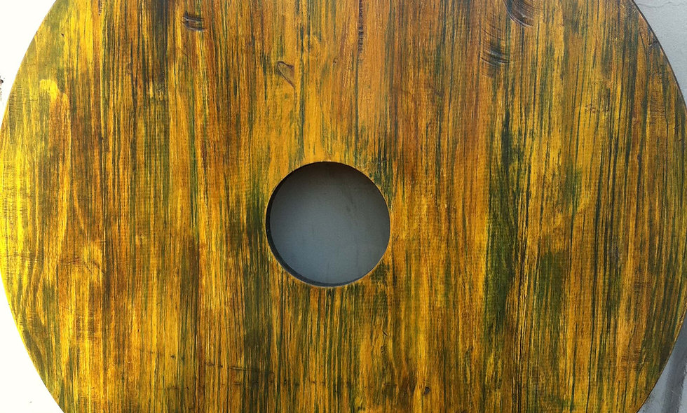 VARNISHED REDWOOD TABLES (Rainforest Green)