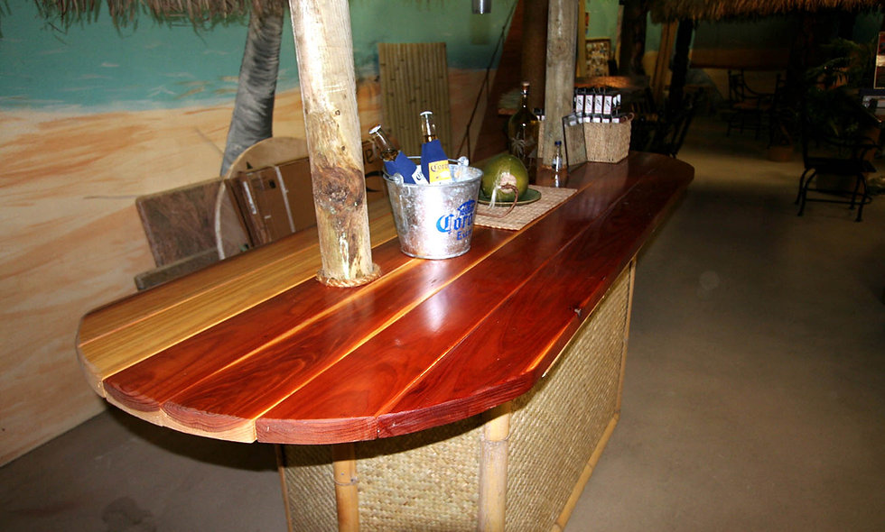 CUSTOM BAR REDWOOD LONG TABLE
