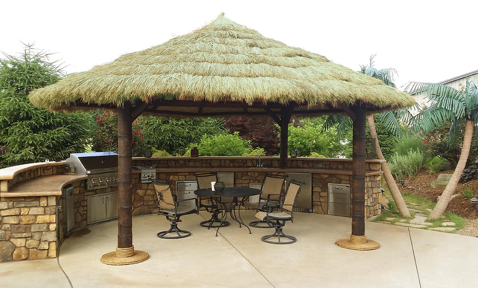 CUSTOM SIZES FIJI THATCH ROUND HUT