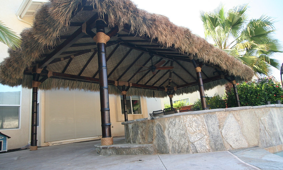 8'x16' FIJI THATCH RECTANGULAR HUT-4 POLE