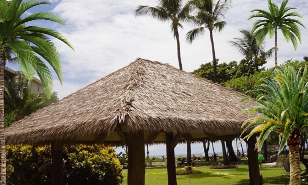 10'x20' SYNTHETIC FIJI THATCH RECTANGULAR HUT- 6 POLES