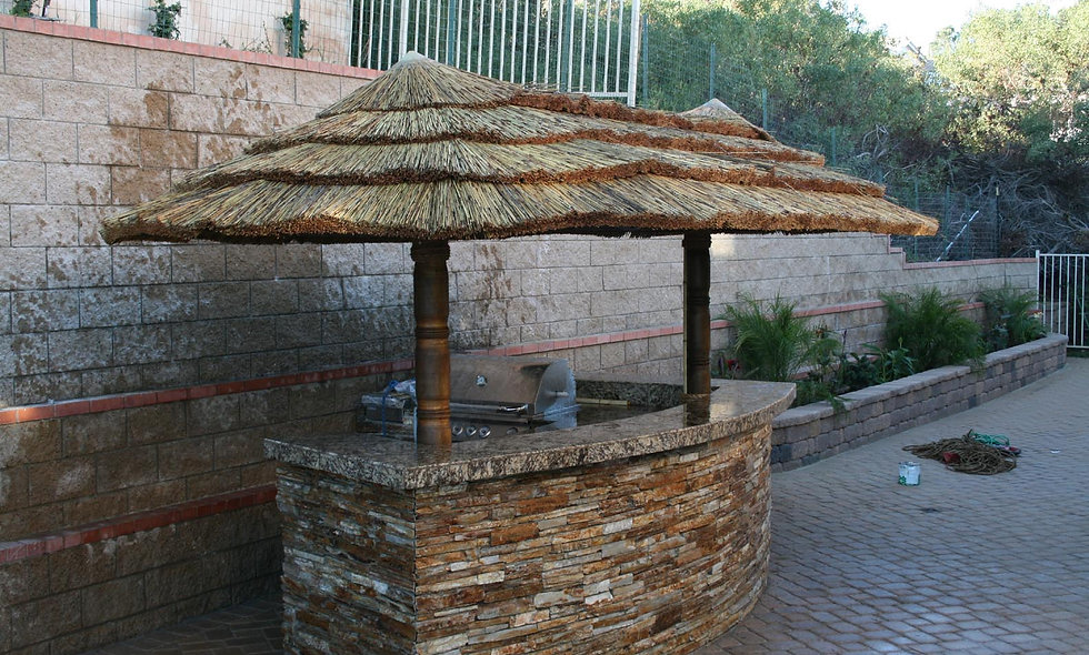 8'x16' AFRICAN OVAL CANCUN HUT-2 POLE
