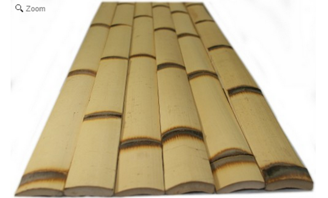 "NATURAL BURNT BAMBOO SLATS-1.75"" x 6' x 0.25"" (25 Pack)"