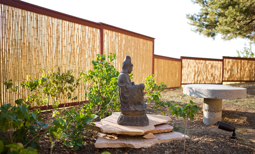 "CUSTOM 1"" BAMBOO FENCING NATURAL 3'-4'-6' TALL"