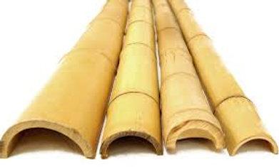 5″ x 8′ BAMBOO POLES HALF ROUNDS (4 Half Poles)