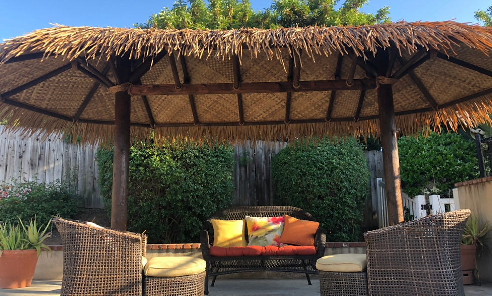 9'X18' SYNTHETIC BAJA THATCH OVAL CANCUN HUT-2 POLE