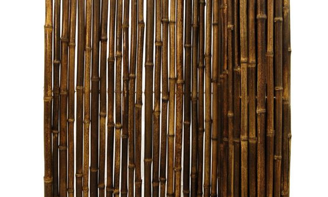 "1"" BAMBOO FENCING NATURAL BLACK 6'-TALL"