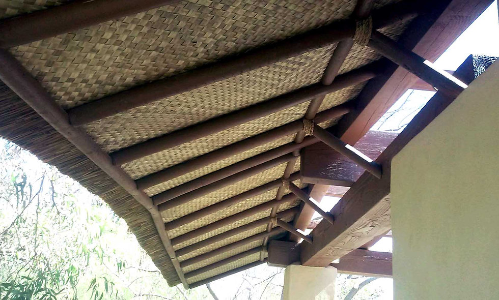 CUSTOM AFRICAN REED AWNINGS