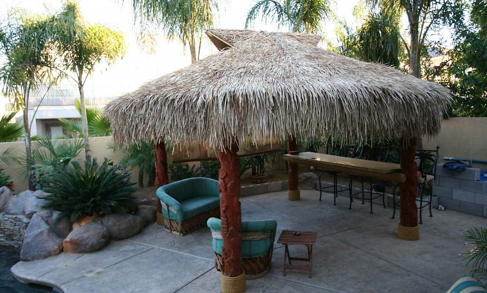 BAJA THATCH ROUND 4 POLE VENTED HUT