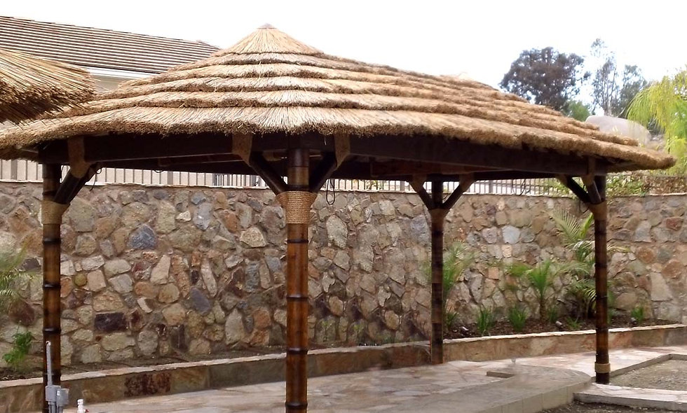 9'X18' AFRICAN OVAL CANCUN HUT-4 POLE