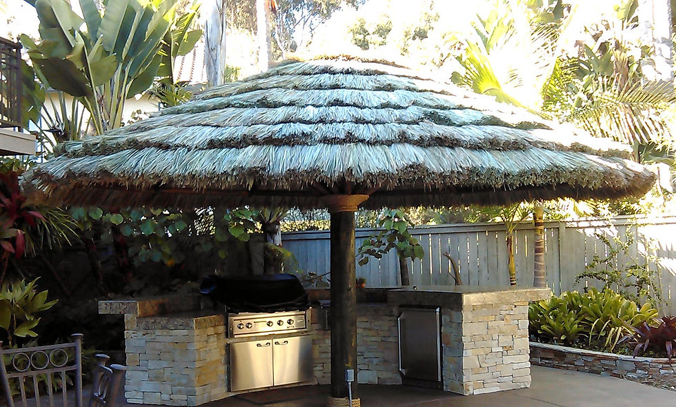 CUSTOM SIZES FIJI THATCH UMBRELLAS