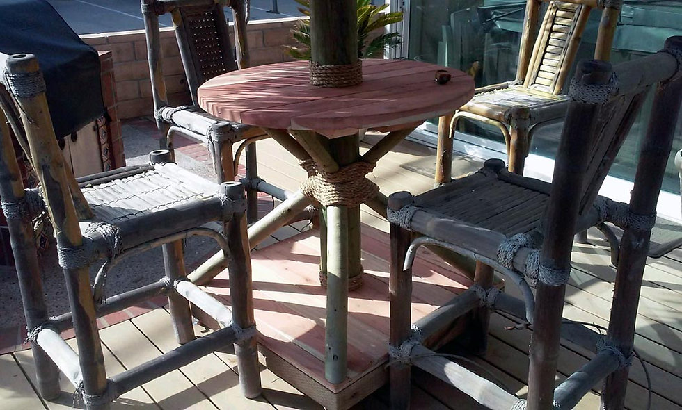 PALAPA STAND/BASE - REDWOOD