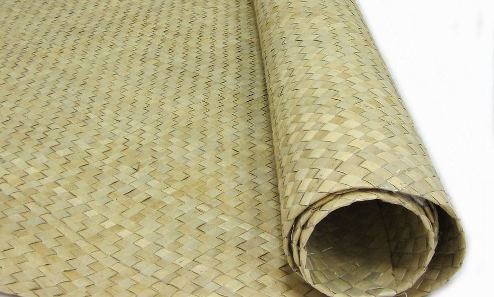 LIGHT BROWN WOVEN MATTING - (Fine weave)