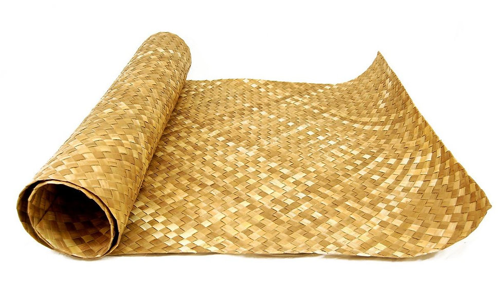 LIGHT BROWN WOVEN MATTING - (Wide weave) 10 pack