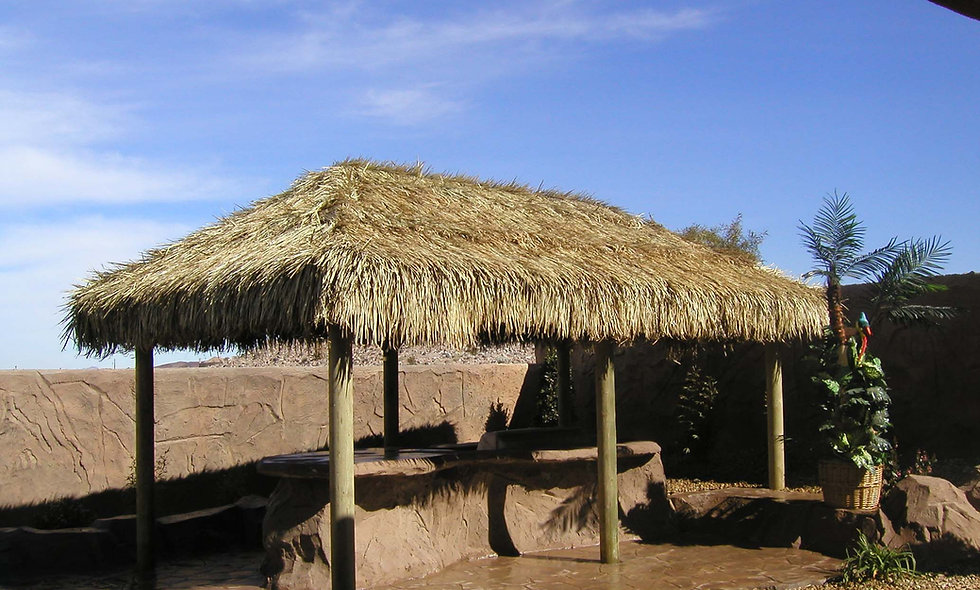 10'X20' BAJA THATCH RECTANGULAR 6 POLE HUT
