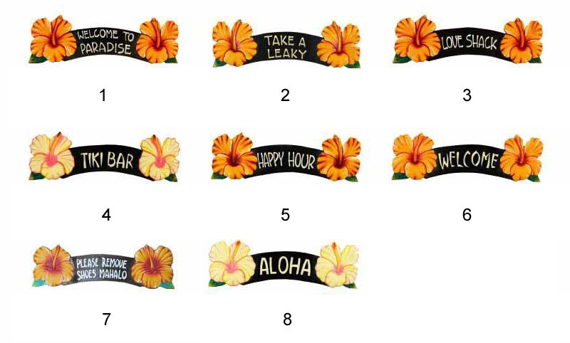 "20"" ALBESIA WOOD YELLOW FLOWER SIGNS"