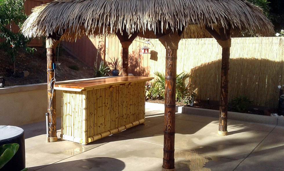 16' SYNTHETIC BAJA THATCH ROUND HUT