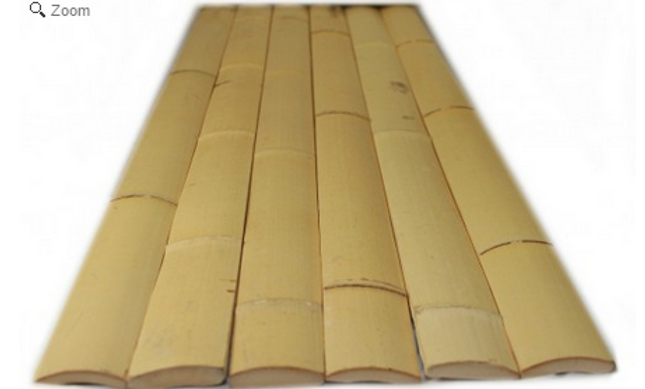 "NATURAL BAMBOO SLATS-1.75"" x 6' x 0.25"" (25 Pack)"