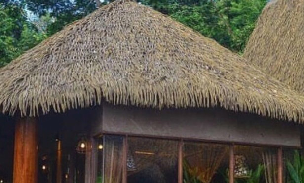 CUSTOM SIZES SYNTHETIC FIJI THATCH ROUND HUTS