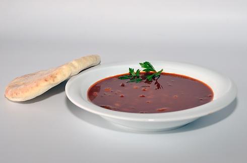 מרק שעועית צמחוני - שווארמה הרצל 2