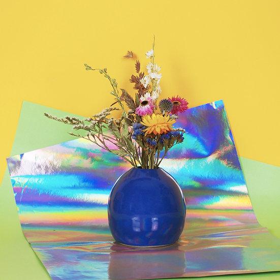 HOMERE - vase céramique et bouquet de fleurs séchées françaises