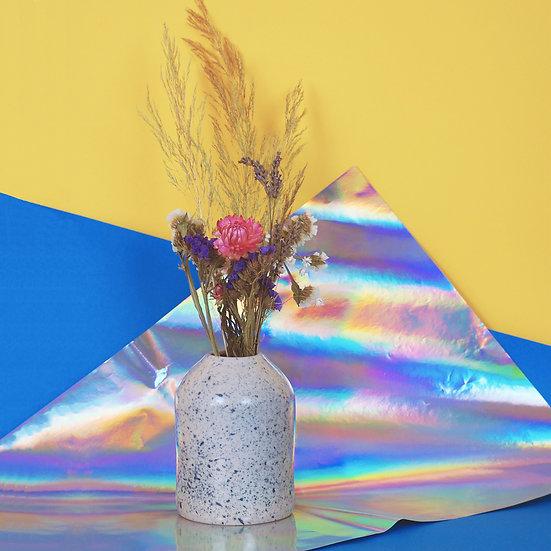 MARCEL PROUST - vase céramique et bouquet de fleurs séchées françaises