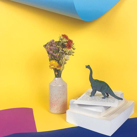 GÉRARD - vase céramique et bouquet de fleurs séchées françaises