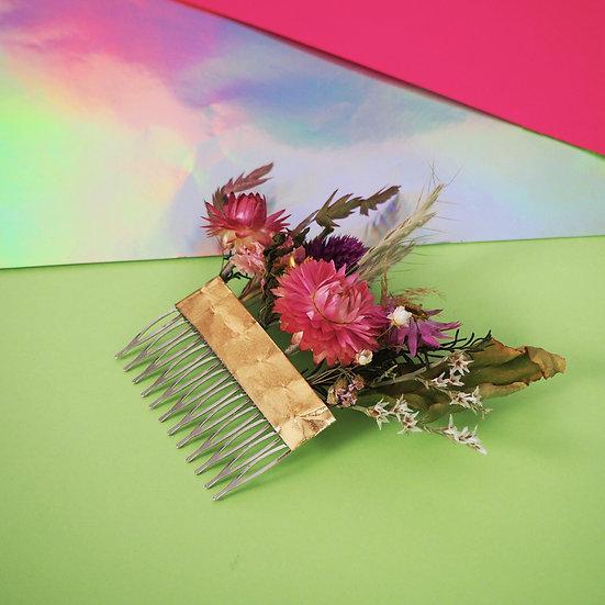 JANE AUSTEN - peignes fleurs séchées françaises