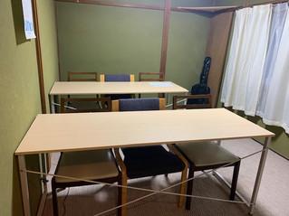 チェリー・ブロッサムの第三教室(自習室)の模様替え