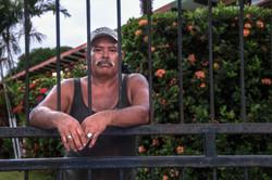 Man Behind Gate