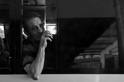 Man in Bus