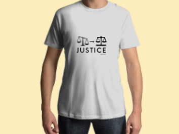 Men's Scales of Justice White Tee