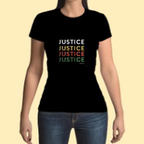 Women's Justice Black Tee