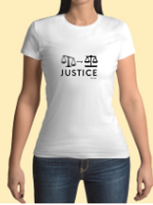 Women's Scales of Justice White Tee