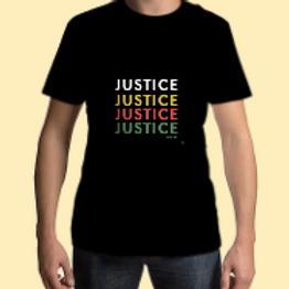 Unisex Justice Black Tee
