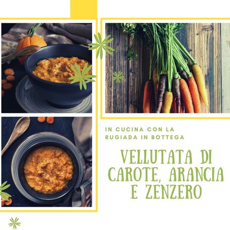 Vellutata di carote, arancia e zenzero