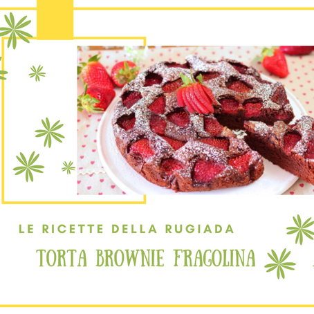 Torta brownies fragolina
