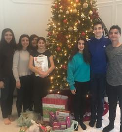 Family Christmas Invitation Donation