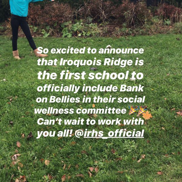 Bank on Bellies x Iroquois Ridge High School