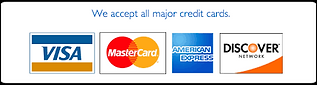 Credit Cards Accepted