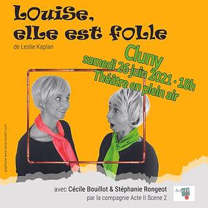Affiche Louise elle est folle 2021 Cluny